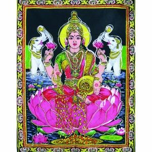 "Goddess Lakshmi  Tapestry (43"" x 30"") Final price"
